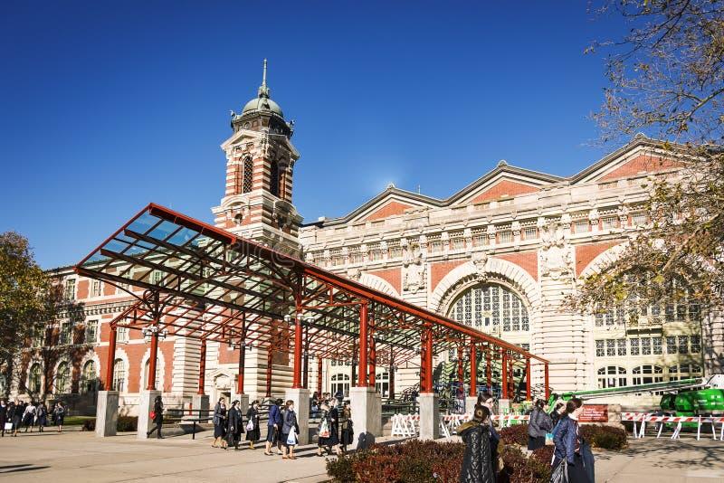 L'entrée principale au musée d'immigration chez Ellis Island photos libres de droits