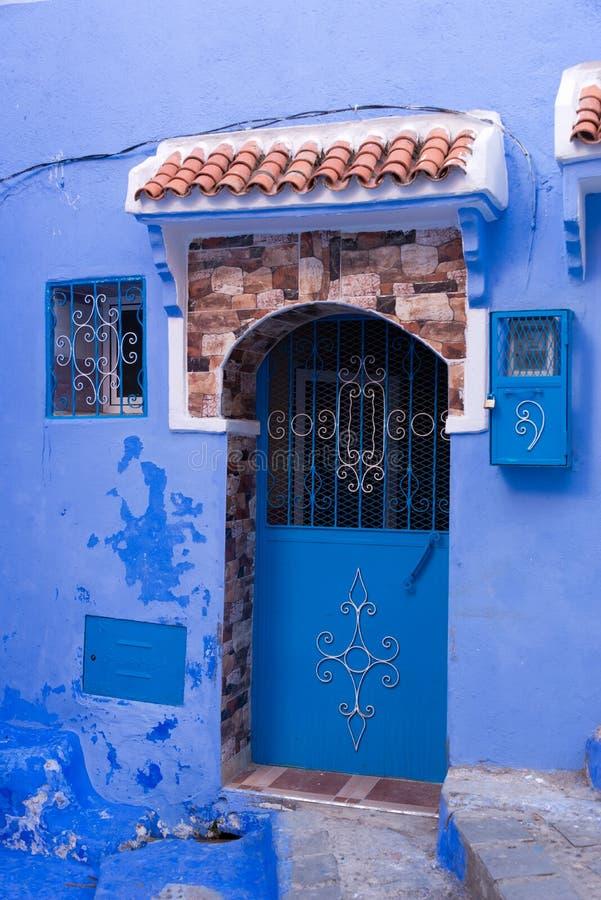 L'entrée principale dans la ville bleue chefchaouen image libre de droits