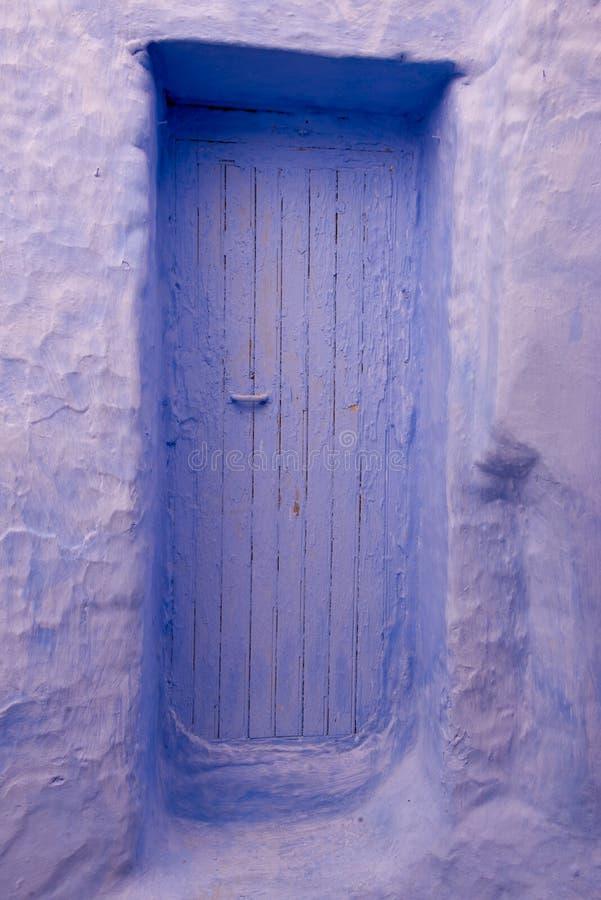 L'entrée principale dans la ville bleue chefchaouen photographie stock libre de droits