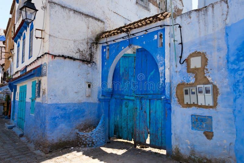 L'entrée principale dans la ville bleue chefchaouen photos stock
