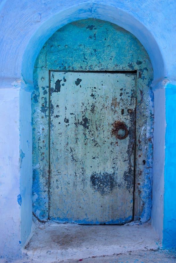 L'entrée principale dans la ville bleue chefchaouen image stock