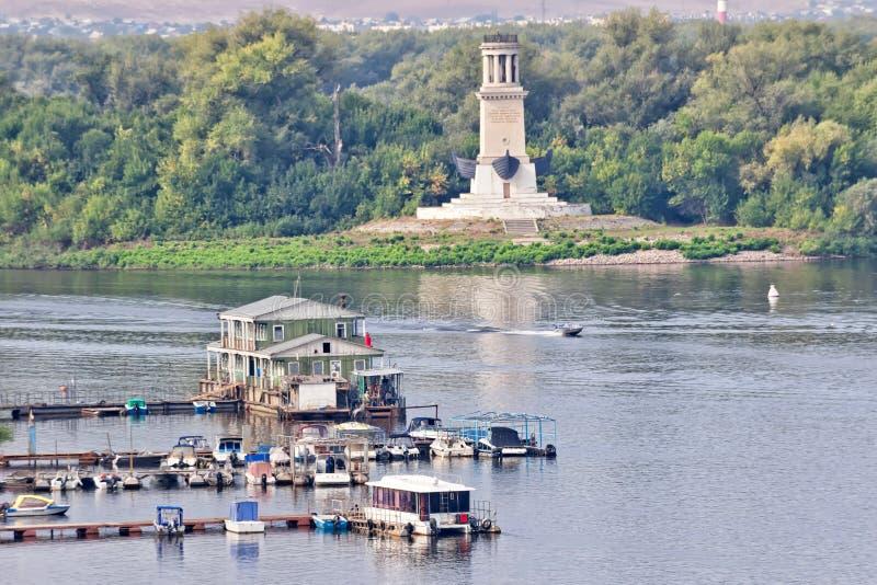 L'entrata al canale di Volga-indossare dal fiume Volga, con fotografia stock