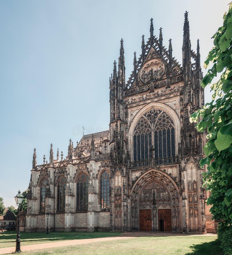 L'entrata della famosa cattedrale Sintjans di Den Bosch nei Paesi Bassi immagine stock libera da diritti