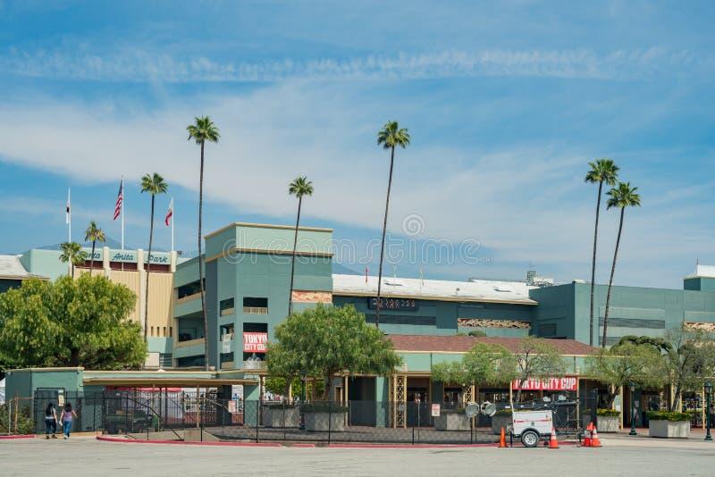L'entrata di Santa Anita Park fotografie stock libere da diritti