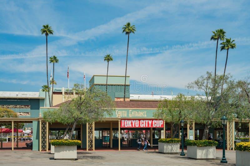 L'entrata di Santa Anita Park immagine stock