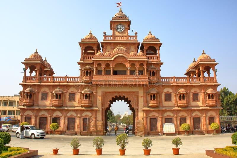 L'entrata principale del tempio di Swaminarayan in Gondal fotografia stock libera da diritti