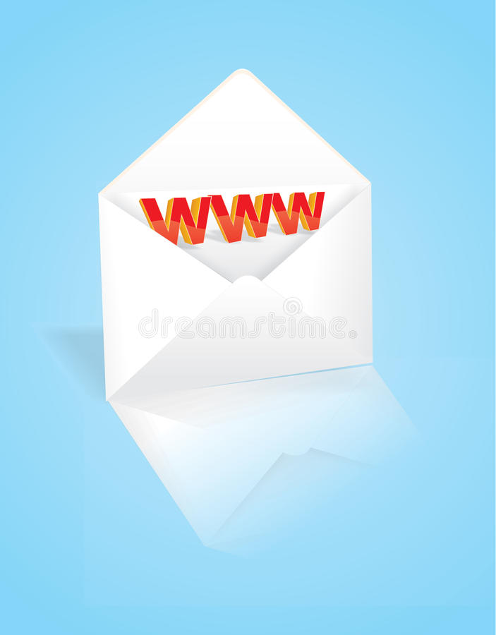 L'enveloppe avec l'adresse du Web illustration stock