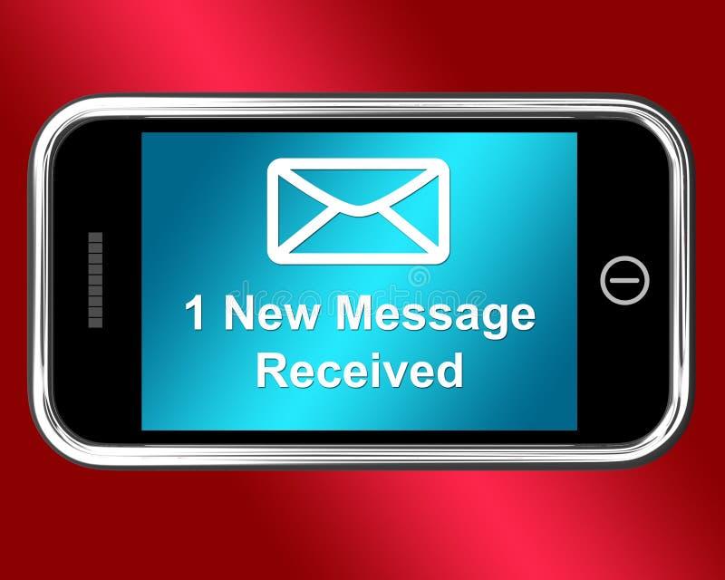 L'enveloppe d'email sur le mobile montre le message reçu illustration de vecteur