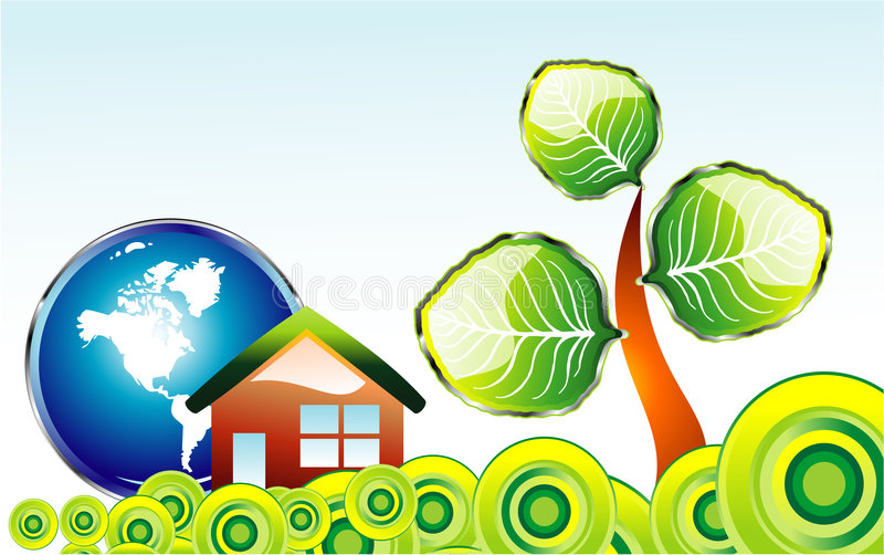 l'environnement de carte vont vert illustration de vecteur