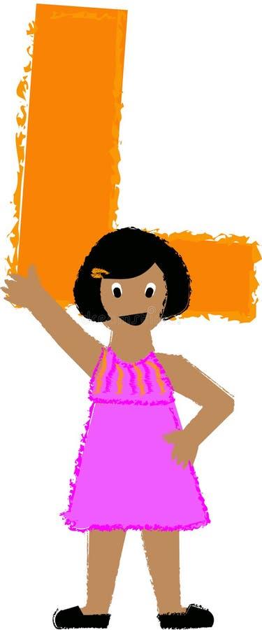 l eps dziewczyna ilustracja wektor
