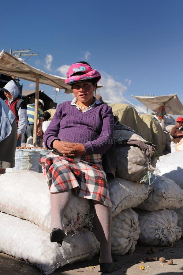 l'Equateur, femme latin ethnique photo libre de droits