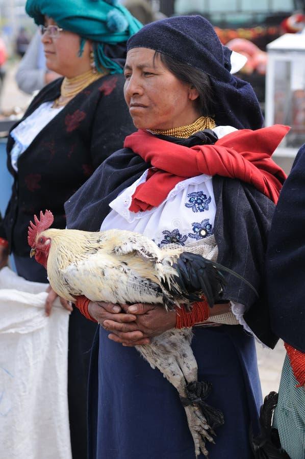 l'Equateur, femme latin ethnique image libre de droits