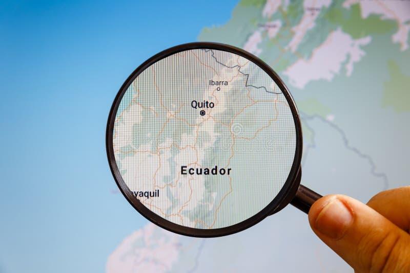l'Equateur Quito carte u politique d'e photo libre de droits