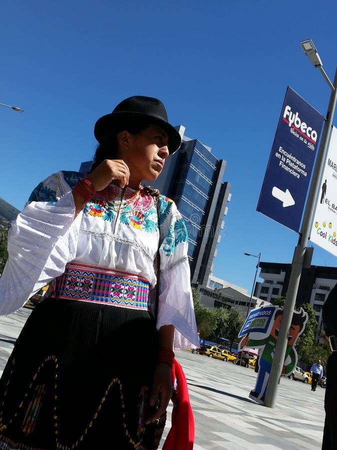 l'equateur quito Les gens image libre de droits