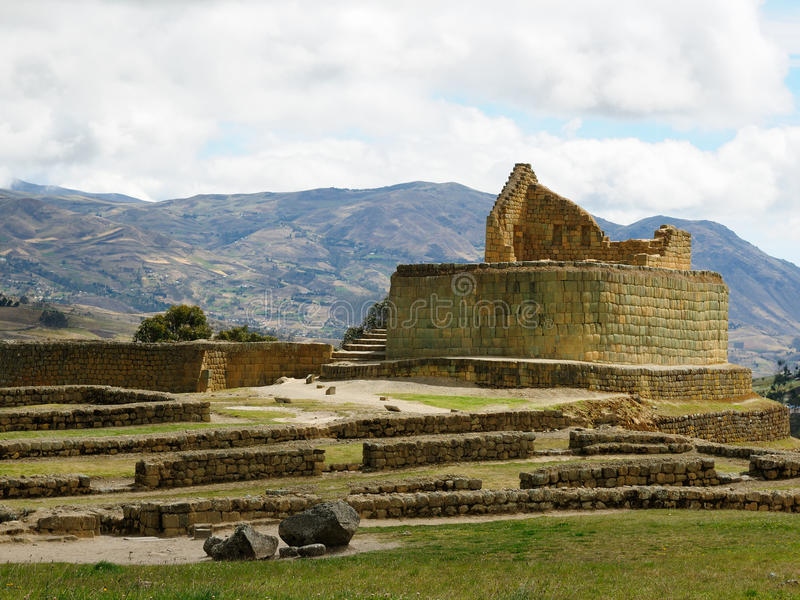 L'Equateur, site antique d'Inca d'Ingapirca photographie stock