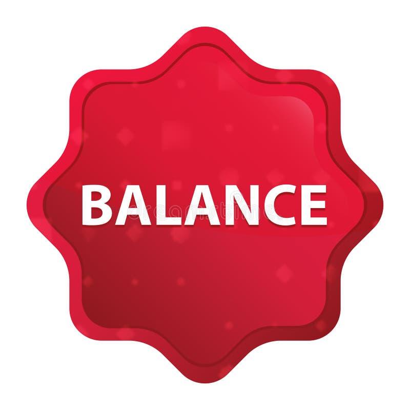 L'equilibrio nebbioso è aumentato bottone rosso dell'autoadesivo dello starburst royalty illustrazione gratis