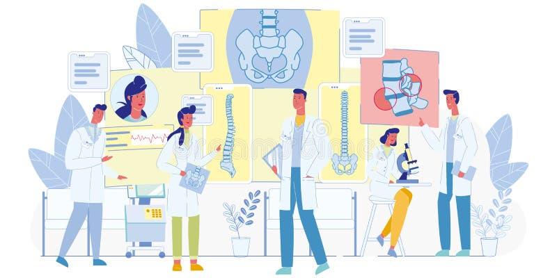 L'erba medica cuoce a vapore lo studio del vettore piano della storia di malattia royalty illustrazione gratis