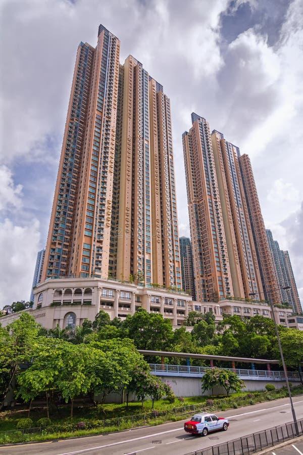 L'ermitage - complexe de luxe de logement dans la ville olympienne trois en Hong Kong photographie stock