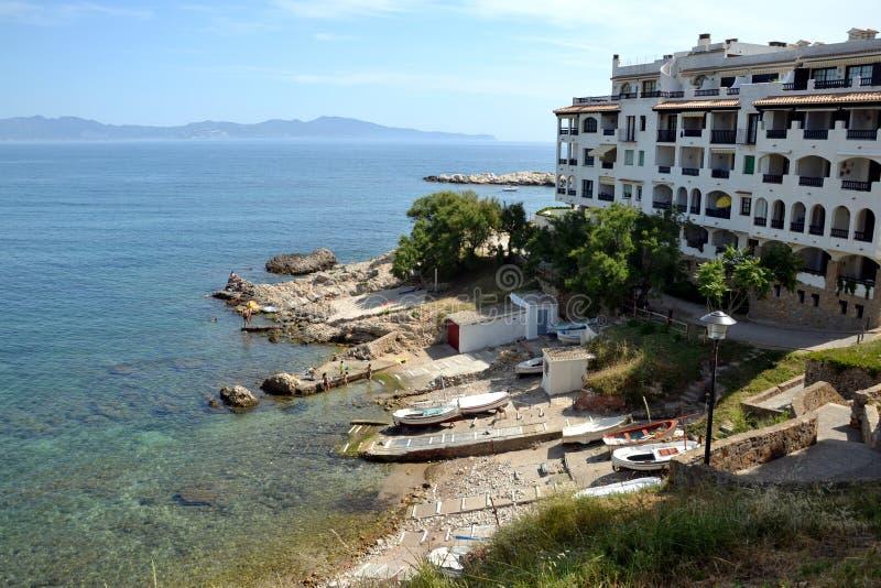 L'Escala na costela Brava, Catalonia, Spain fotos de stock royalty free