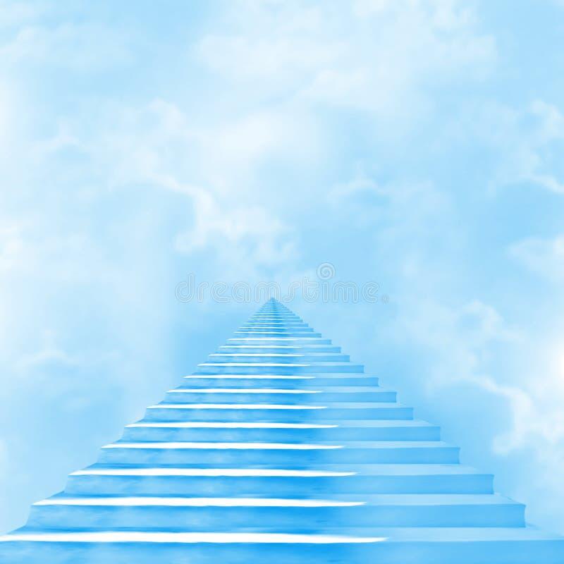 L'escalier au ciel illustration de vecteur