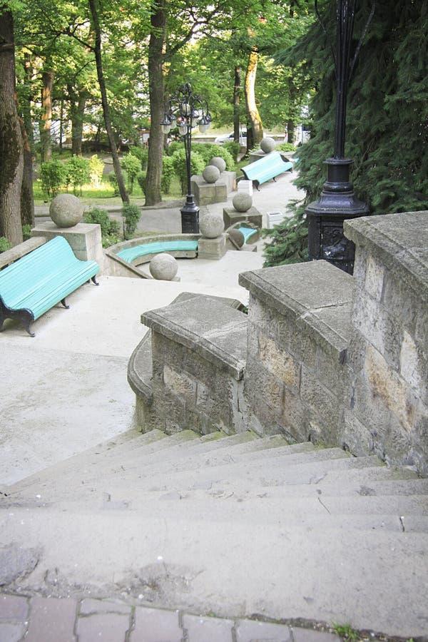 L'escalier principal dans Zheleznovodsk, Russie image stock
