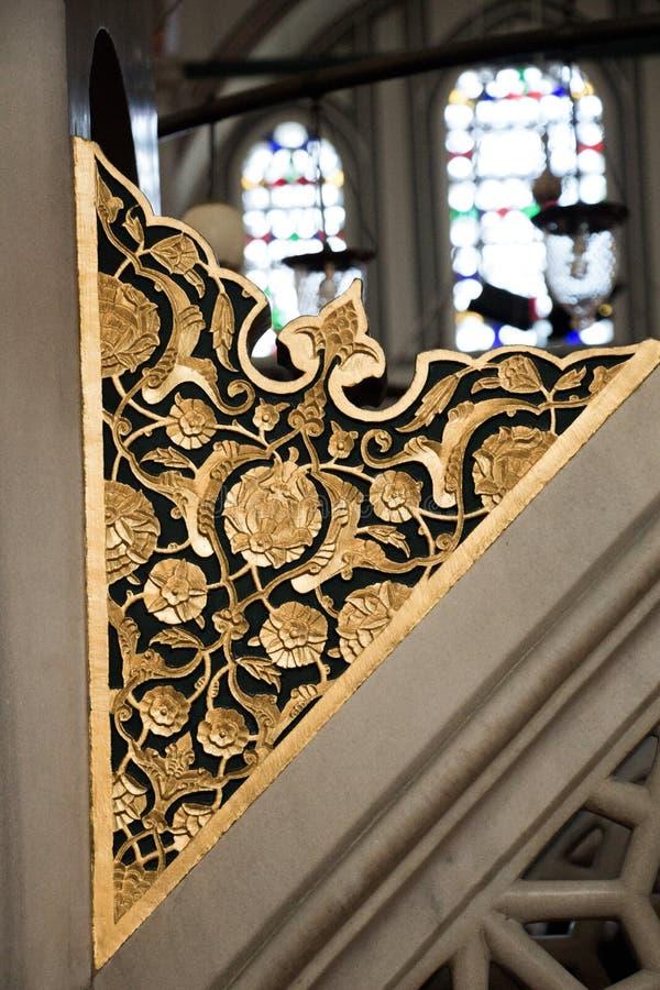 L'esempio dei modelli di arte dell'ottomano si ? applicato sulla pietra fotografia stock libera da diritti