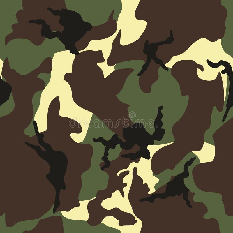 L'esercito, militare cammuffa il modello basato vettore ripetuto senza cuciture fotografia stock libera da diritti
