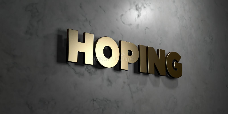 L'espérance - signe d'or monté sur le mur de marbre brillant - de 3D a rendu l'illustration courante gratuite de redevance illustration stock