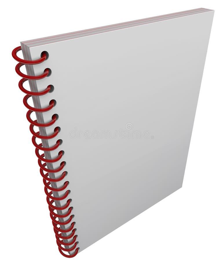 L'espace à spirale de copie de blanc de journal de carnet de couverture de livre illustration de vecteur