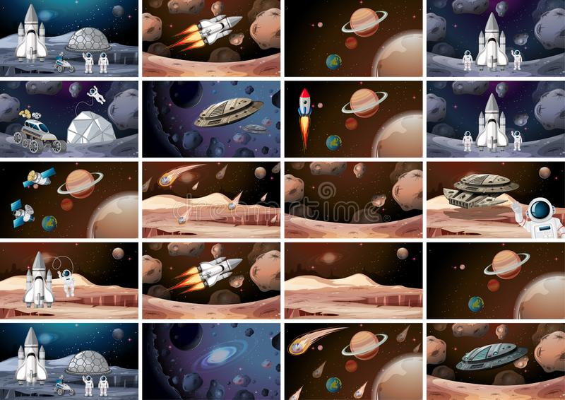 L'espace énorme trouble la scène illustration libre de droits