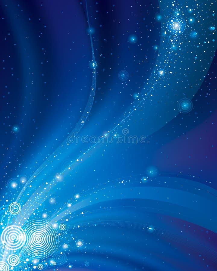 L'espace étoilé abstrait illustration libre de droits