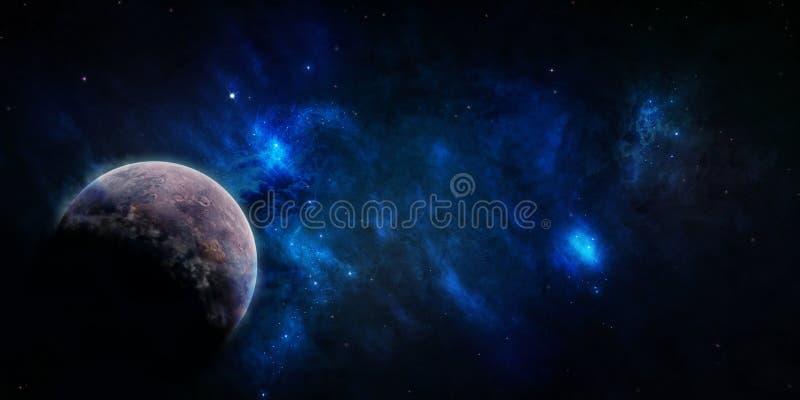 L'espace étoilé bleu de ciel illustration libre de droits