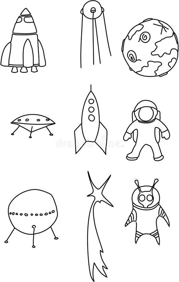 L'espace illustration stock