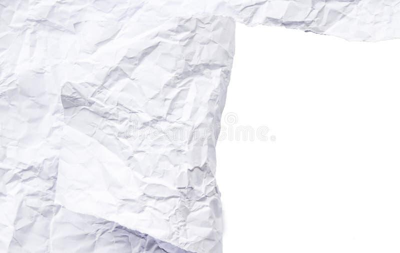 L'espace blanc de papier déchiré photos stock