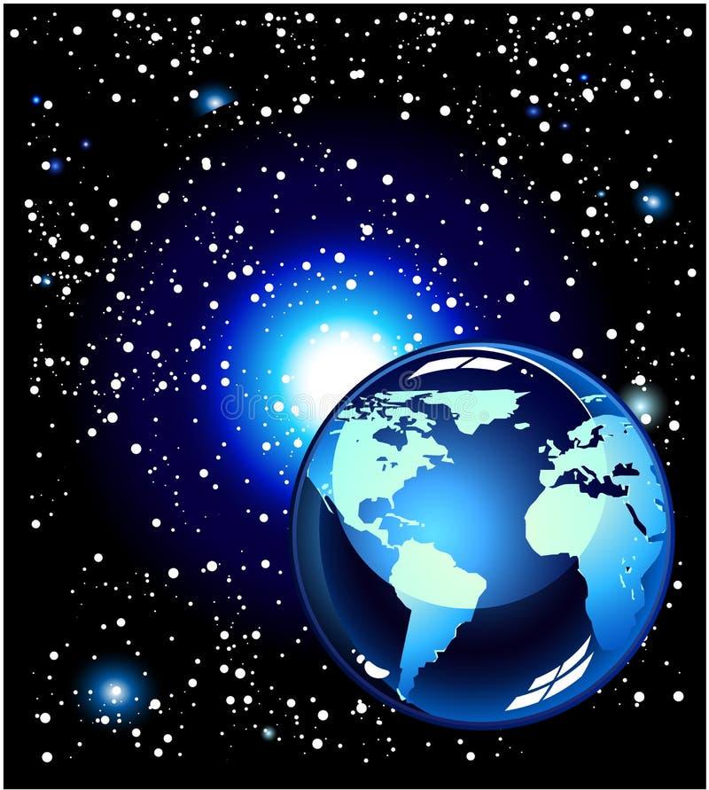 l'espace bleu de planète illustration de vecteur