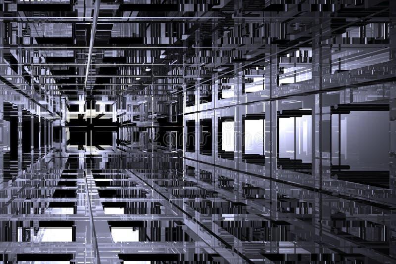 L'espace cubique illustration stock