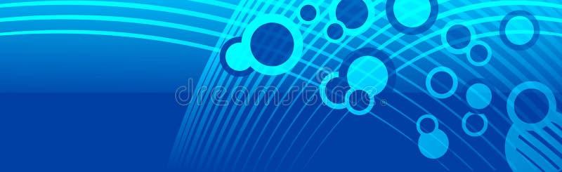L'espace d'en-tête de bannière bouillonne bleu cyan illustration stock
