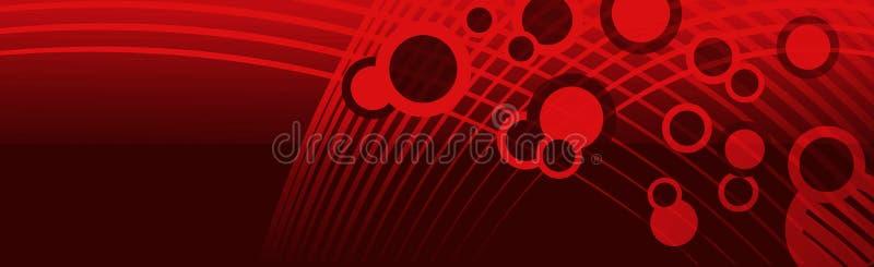 L'espace d'en-tête de bannière bouillonne rouge illustration libre de droits