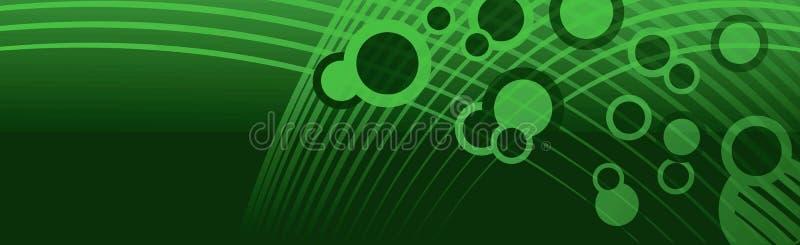 L'espace d'en-tête de bannière bouillonne vert illustration stock