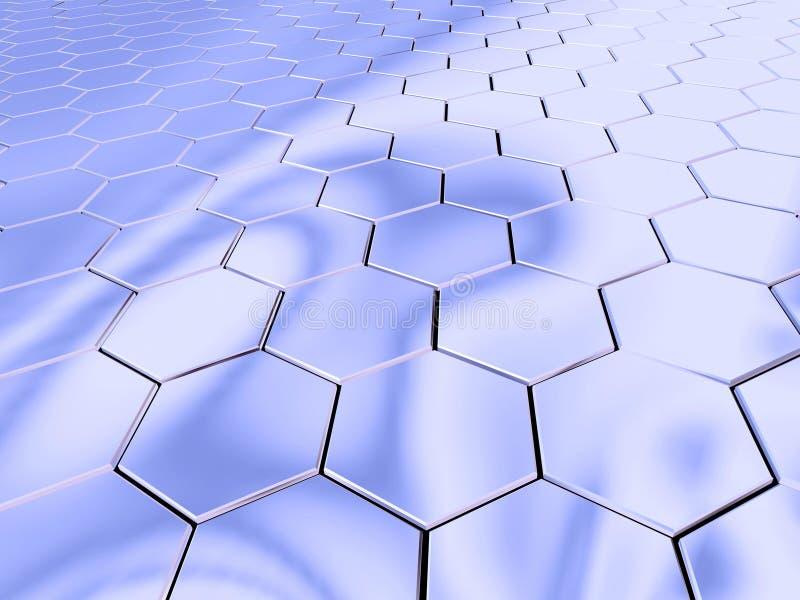 L'espace d'hexagone de chrome illustration stock