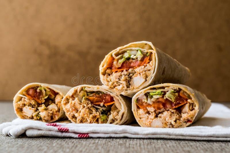 L'espace de copie de chiche-kebab de doner de blé dur de shawarma de poulet photos libres de droits