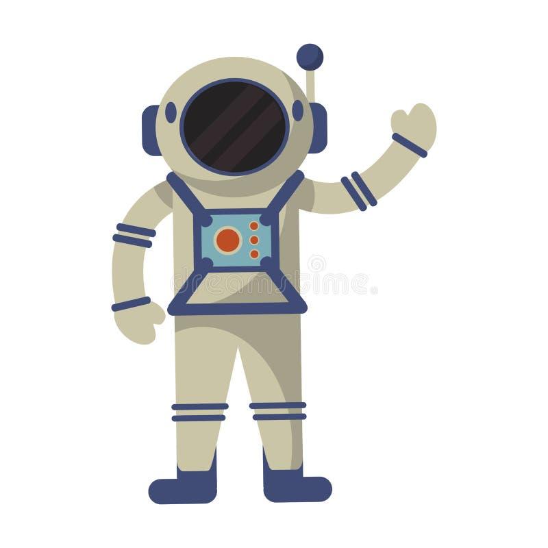 l'espace de costume d'exploration d'astronaute illustration libre de droits
