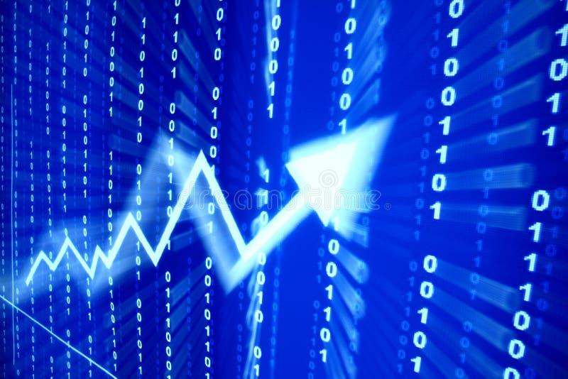 L'espace de données bleu illustration stock