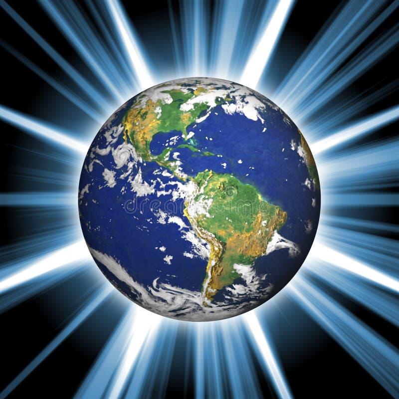 l'espace de la terre illustration de vecteur