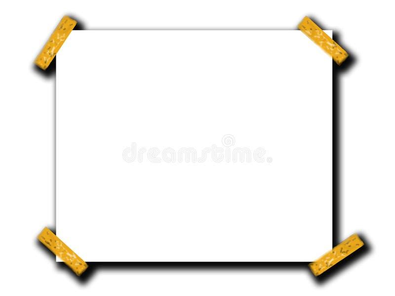 L'espace de papier blanc avec la bande 4 illustration stock