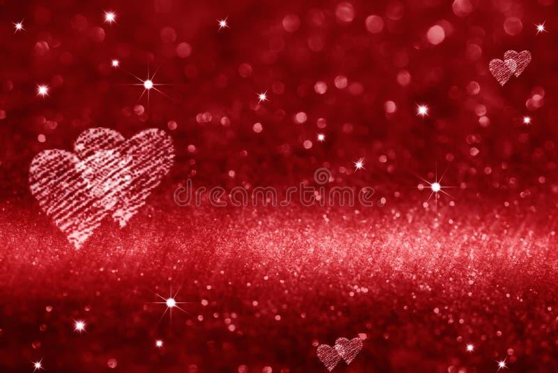 l'espace de rouge d'amour de coeur images stock