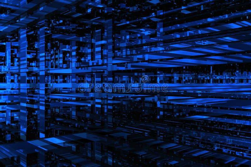 l'espace du bleu 3D illustration stock