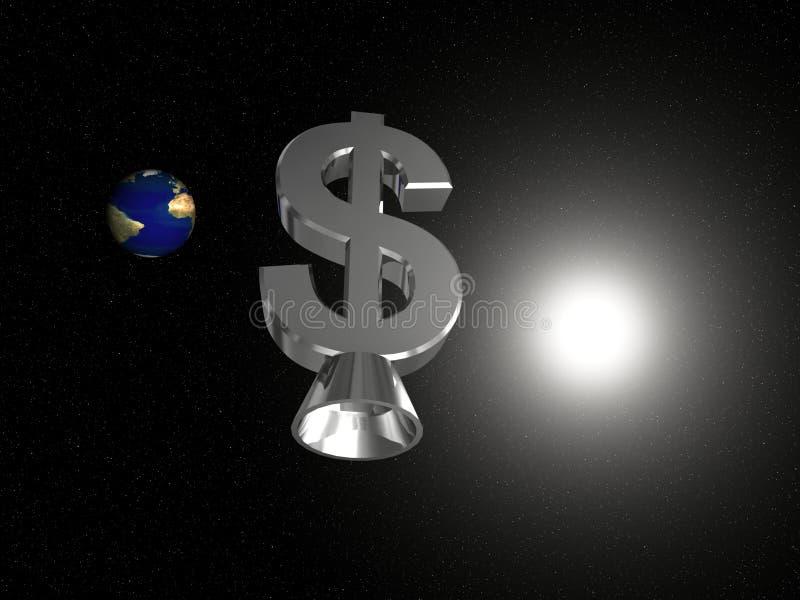 l'espace du dollar illustration de vecteur