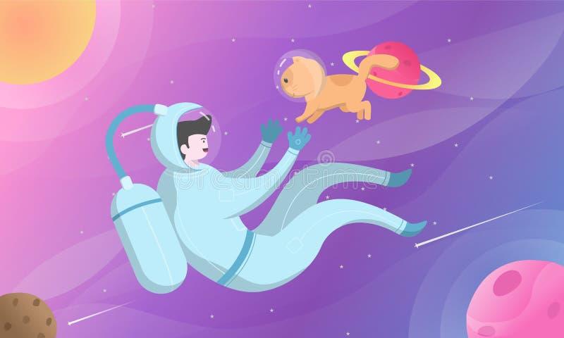 L'espace et chat photos libres de droits