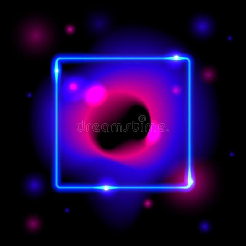 L'espace futuriste abstrait s'est fané les formes liquides de gradient d'écoulement de couleur de cercles dans des couleurs roses illustration libre de droits
